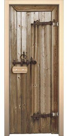 Банная дверь AKMA Старое дерево