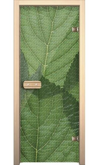 Банная дверь AKMA Зеленый лист
