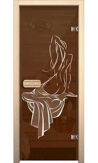 Дверь для бани АКМА Девушка