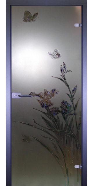 Межкомнатная стеклянная дверь AKMA БАБОЧКА-1