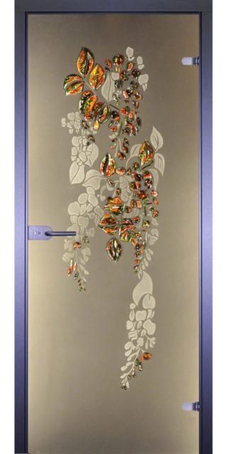 Межкомнатная стеклянная дверь AKMA Глициния