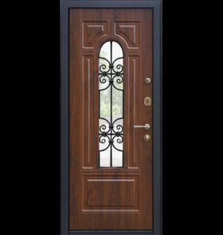 Входная металлическая дверь МеталЮр М30, Темный орех