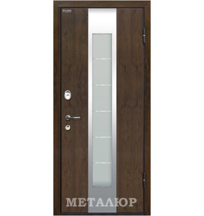 Входная металлическая дверь МеталЮр М34, Темный орех