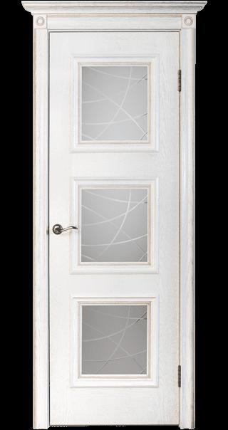 Межкомнатная дверь Юркас шпон Квадро-1 ДО