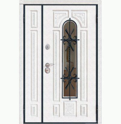 Двустворчатая уличная дверь Лувр 2