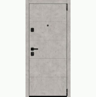 Входная металлическая дверь EL'PORTA Porta M 4.4 Grey Art/Snow Art